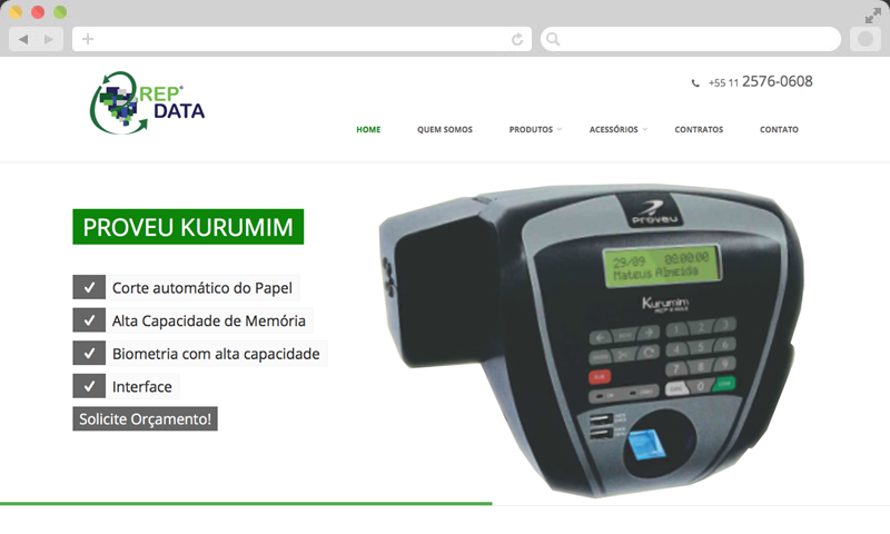 Projeto realizado: webSite e Marketing Digital para REPDATA