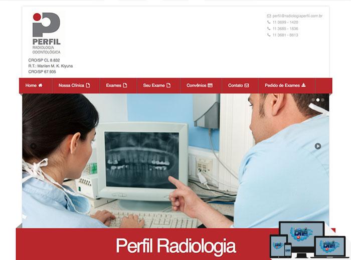 Layout desenvolvido para o webSite Radiologia Perfil