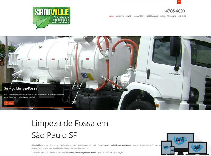 Layout desenvolvido para o webSite SANIVILLE